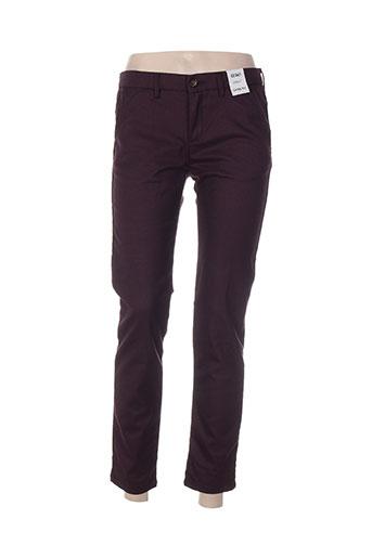 reiko pantalons femme de couleur violet