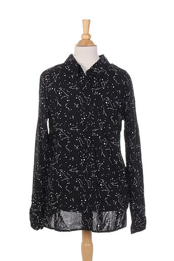 teddy smith chemises fille de couleur noir