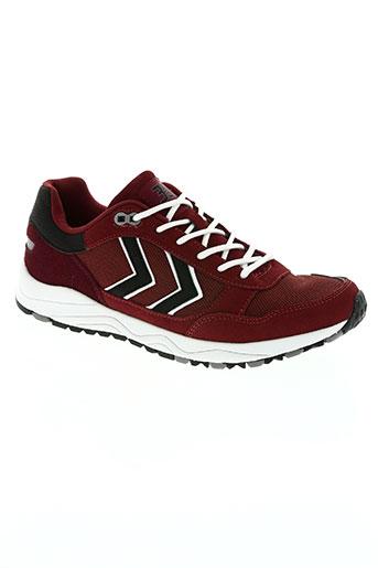 hummel chaussures garçon de couleur rouge
