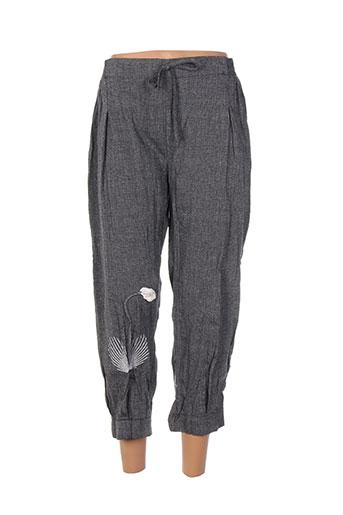 purplerose pantalons femme de couleur gris