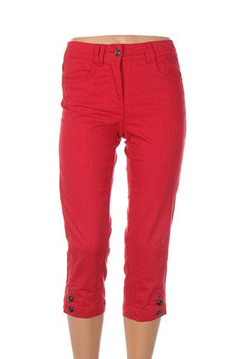 brandtex pantacourts femme de couleur rouge