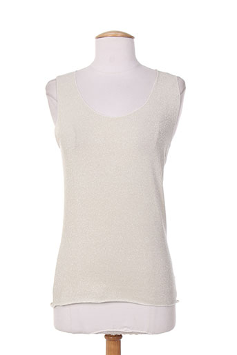 mielo moda t-shirts femme de couleur beige