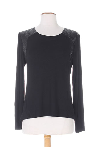 chanon t-shirts femme de couleur noir