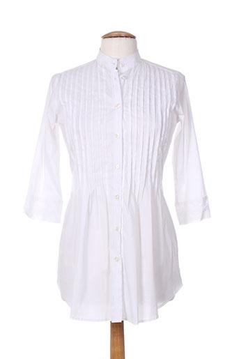 gaia boldetti tuniques femme de couleur blanc