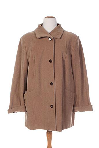 gelco manteaux femme de couleur marron