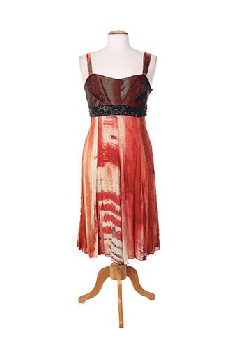 daniela dallavalle robes femme de couleur orange