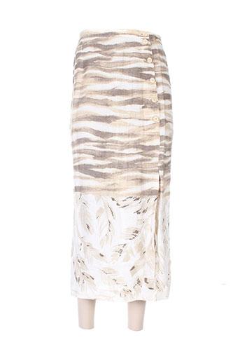 jean girard jupes femme de couleur beige