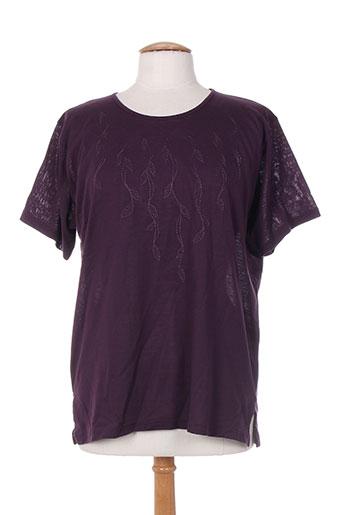 ross tricots t-shirts femme de couleur violet