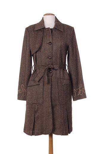 ishwar manteaux femme de couleur marron