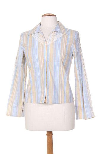 finette chemises femme de couleur bleu