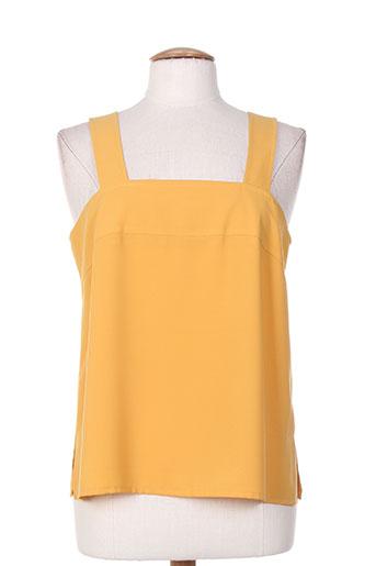 charles lorens chemises femme de couleur jaune
