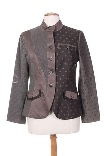 camage vestes femme de couleur gris