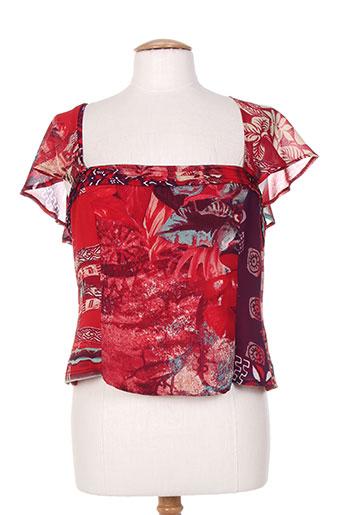 paul mausner chemises femme de couleur rouge