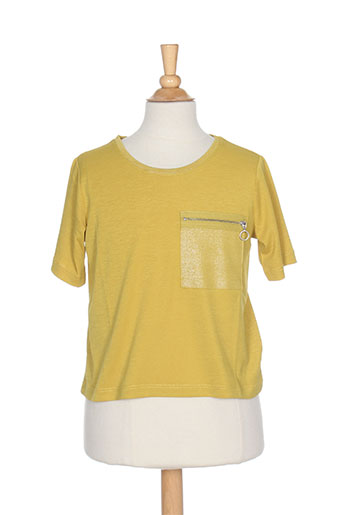 teddy smith t-shirts fille de couleur jaune