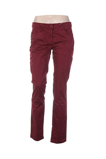 tom tailor pantalons femme de couleur rouge