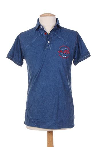 jn-joy t-shirts homme de couleur bleu