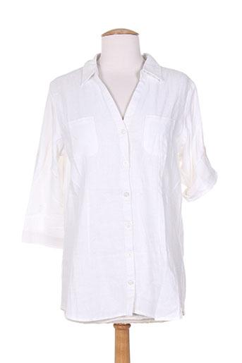 esprit de la mer chemises femme de couleur blanc