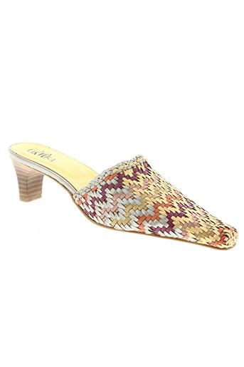 carioka chaussures femme de couleur jaune