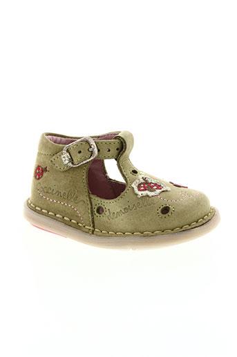noël chaussures fille de couleur vert