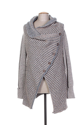 tricot chic gilets femme de couleur gris