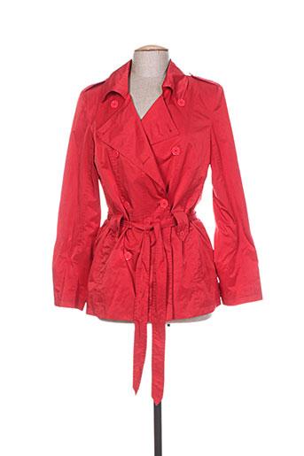 nathalie chaize manteaux femme de couleur rouge