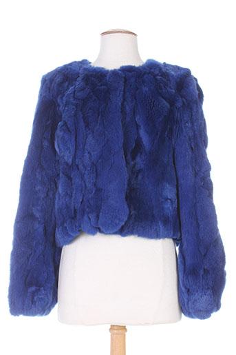 lou andrea manteaux femme de couleur bleu