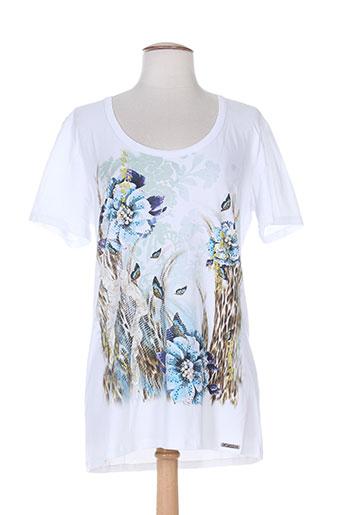 T-shirt manches courtes blanc CAPPOPERA JEANS pour femme