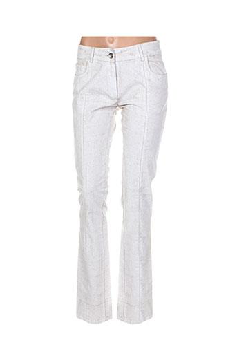 isabel de pedro pantalons femme de couleur beige