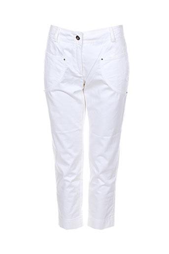nathalie chaize pantacourts femme de couleur blanc
