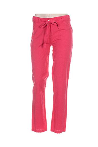 Pantalon casual rose GOUBI pour femme