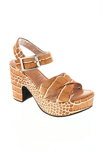 free lance chaussures femme de couleur orange