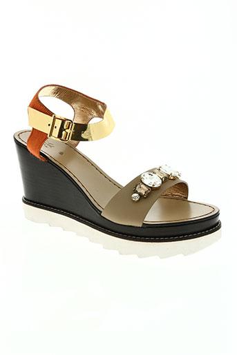 sanchita chaussures femme de couleur beige