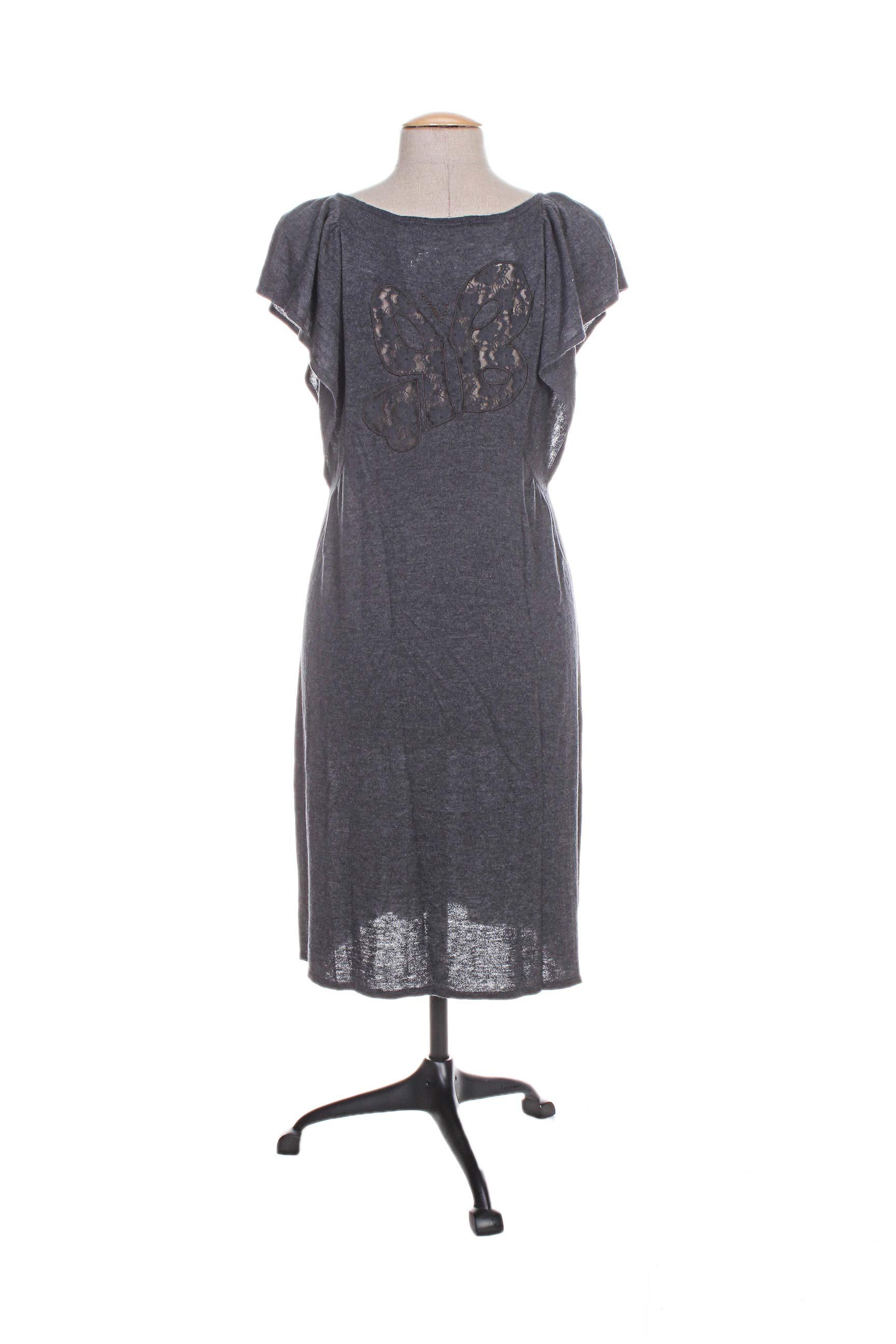 Le Petit Baigneur Robes Mi Longues Femme De Couleur Gris En Soldes Pas Cher 1098528-gris00
