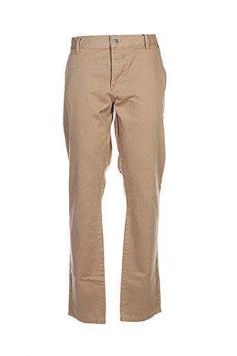 solid jeans pantalons homme de couleur beige