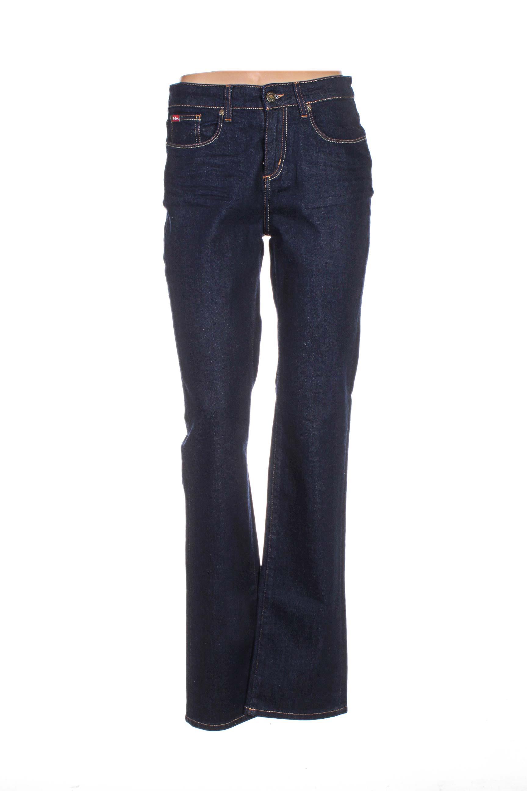 Lee Cooper Jeans Coupe Droite Femme De Couleur Bleu En Soldes Pas Cher 1103331-bleu00 - Modz