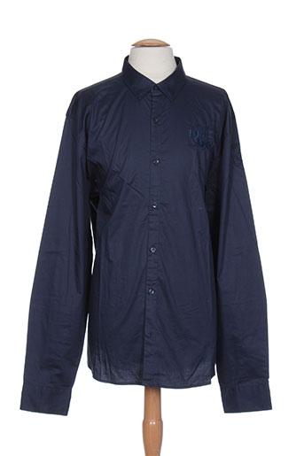 les voiles de saint-tropez chemises homme de couleur bleu