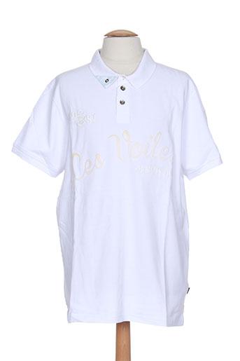 les voiles de saint-tropez t-shirts homme de couleur blanc