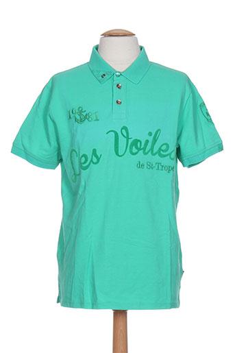 les voiles de saint-tropez t-shirts homme de couleur vert