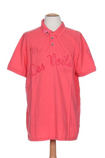 les voiles de saint-tropez t-shirts homme de couleur rose