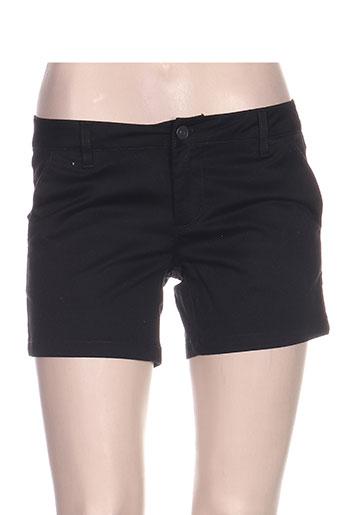 volcom shorts / bermudas femme de couleur noir