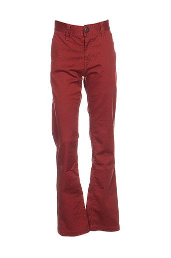 volcom pantalons garçon de couleur rouge
