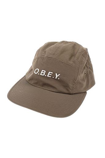obey accessoires homme de couleur marron