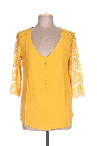 akoz de toi chemises femme de couleur jaune