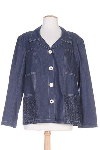 telmail vestes femme de couleur bleu