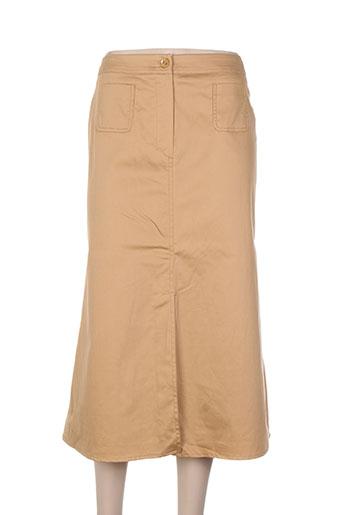 gerard pasquier jupes femme de couleur beige
