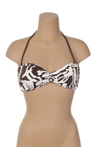 cherry beach maillots de bain femme de couleur marron