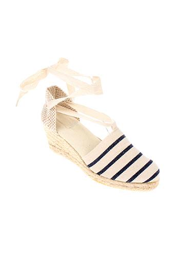 armor lux chaussures femme de couleur bleu