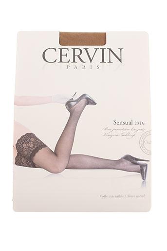 cervin lingerie femme de couleur beige