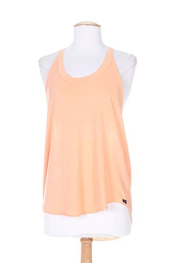 obey propaganda chemises femme de couleur orange