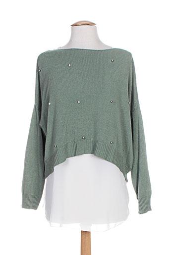belle pulls femme de couleur vert